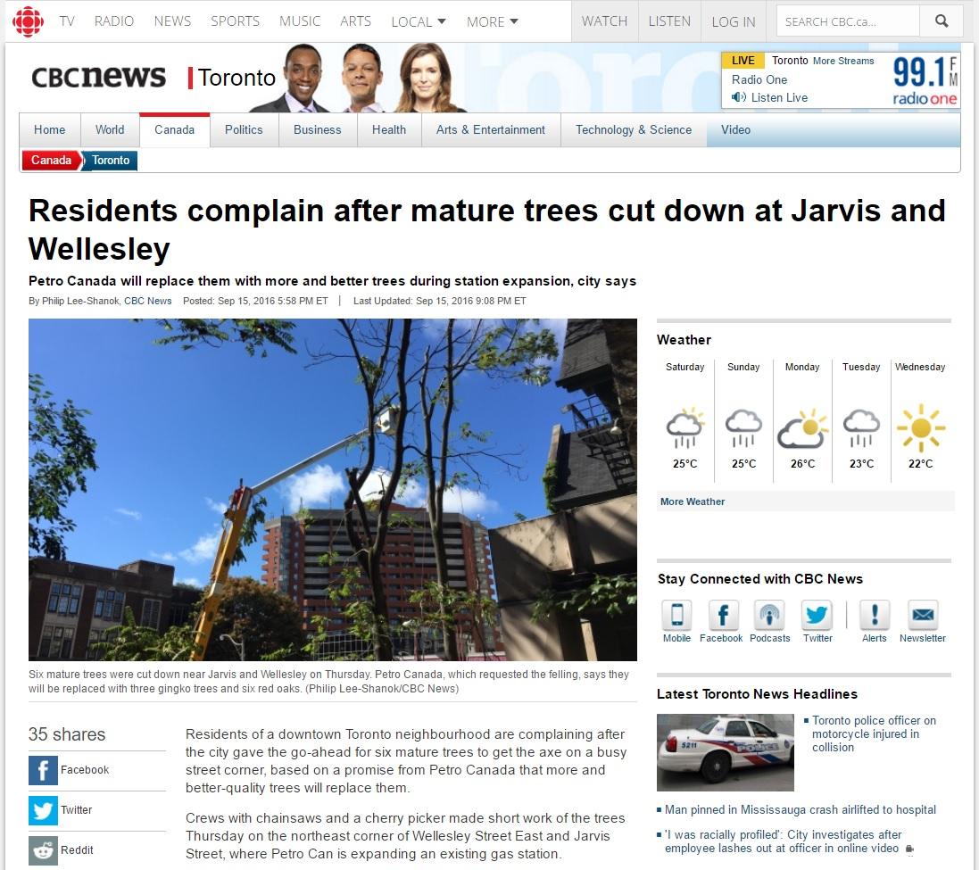 Tree Doctors on CBC News