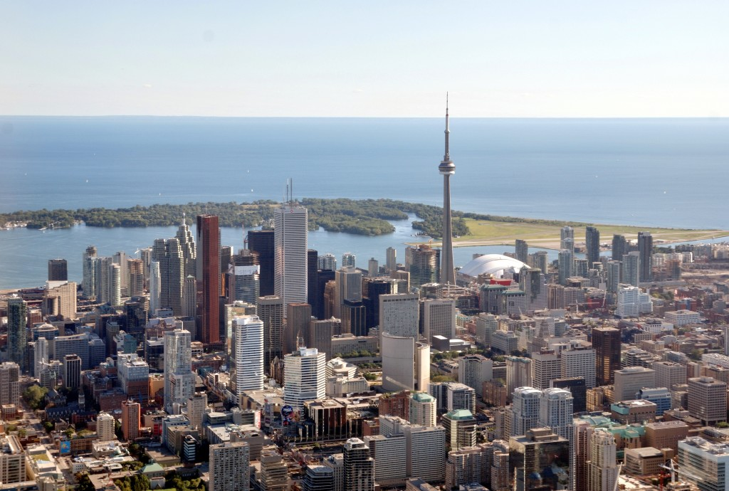 """""""Toronto - ON - Toronto Skyline2"""" by Taxiarchos228 at the German language Wikipedia. Licensed under CC BY-SA 3.0 via Wikimedia Commons - https://commons.wikimedia.org/wiki/File:Toronto_-_ON_-_Toronto_Skyline2.jpg#/media/File:Toronto_-_ON_-_Toronto_Skyline2.jpg"""